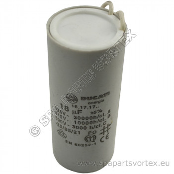 (630-6027) Marquis 18 mfd Capacitor with leads  (New)