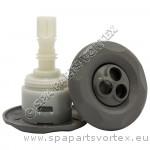 Mini Storm Grey Pulse Massage 5-Point Textured (Thread in)