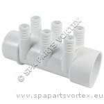(250-0143) Manifold 6PT 3/4B x 2 inch S x 2 inch SPG