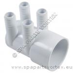 (250-0146) Manifold 4 Port 3/4 inch B x 2 inch S BLIND